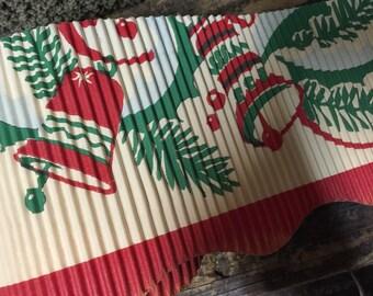 Antique Vintage crimped paper Christmas Border Trim