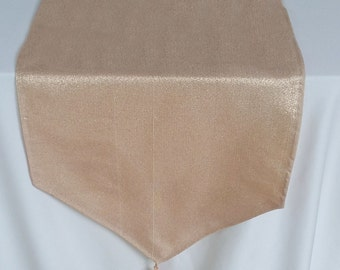 rose gold table runner. Decorative rose gold table  runner. Rise good table  decar. with tassls. 88x13.5 inch. 4pcs in stock ready to ship.