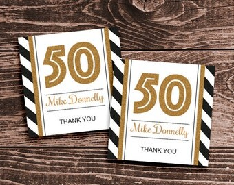 30th 40th 50th 60th 70th birthday party favor tags or stickers diy ...