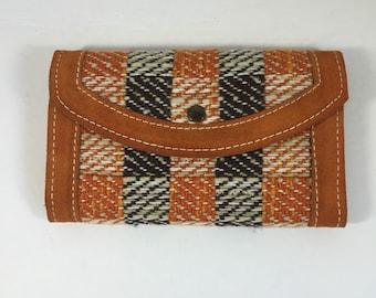 Vintage 1970s Suede Checkbook Wallet