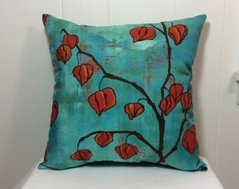 Decorative Pillow, Accent Pillow, Sofa Pillow, Couch Pillow, Bed Pillow, Blue Pillow, Red Pillow, Gift Idea, Home Decor