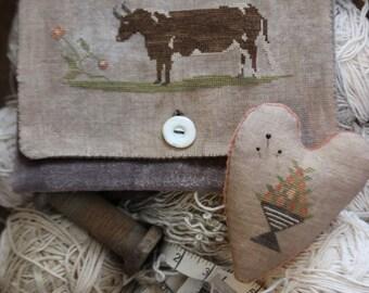 Brown Cow Sampler Bag & Pinkeep *PATTERN*