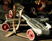 Vintage Metal Skates Outdoor Antique Sidewalk Skates Speed King  Retro Toy Memorabilia