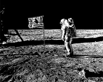 astronaut walking on the moon printable art digital image download astronomy space man printables graphics images black and white art