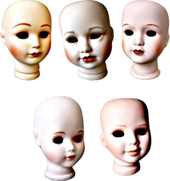 creepy porcelain doll heads png images clip art Digital Download graphics printables
