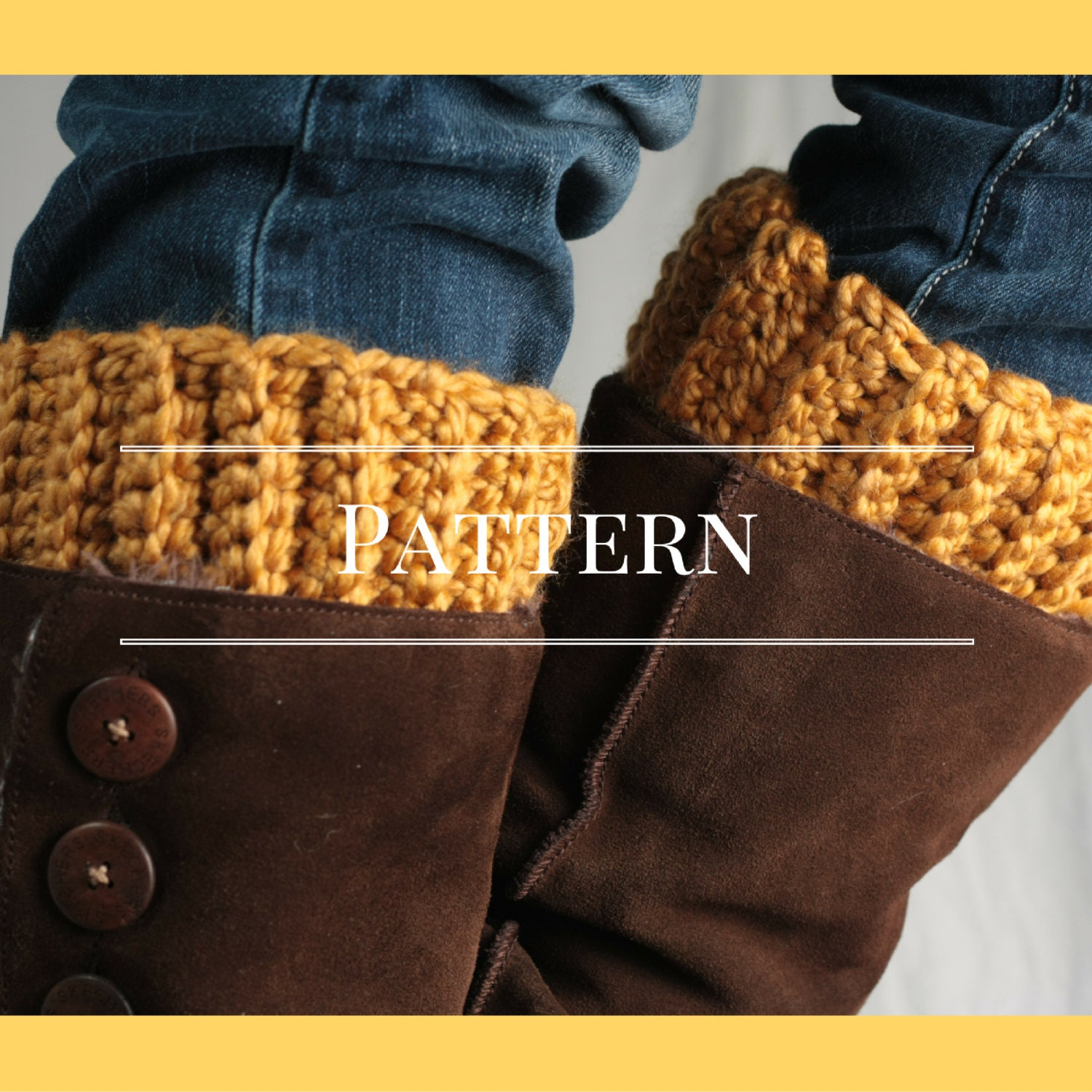 Crochet Boot Cuff Easy Pattern : Crochet Pattern easy boot cuff pattern