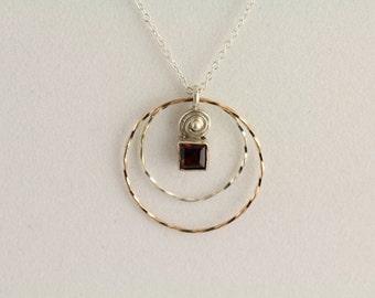 Garnet Pendant. Listing 280523370