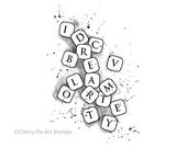 SCRAMBLED LETTERS - Renaissance art - CLiNG RuBBer STaMP by Cherry Pie