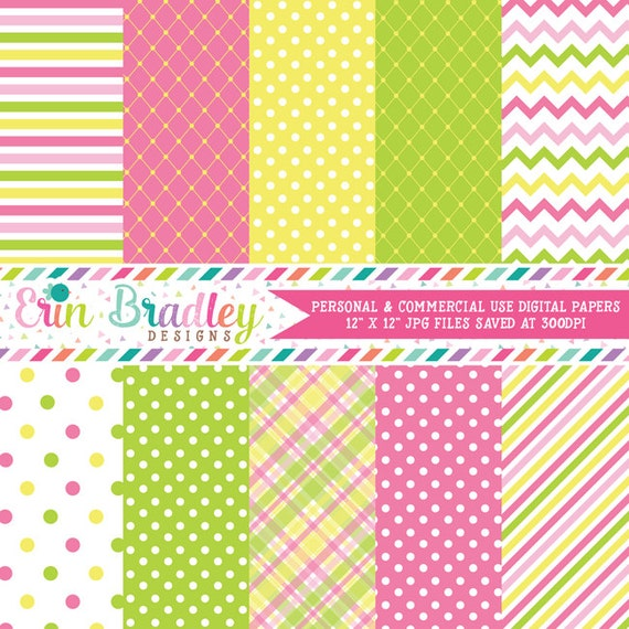 Digital Paper Pack Personal and Commercial Use Summertime Fun