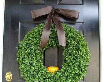 FALL WREATH SALE Pumpkin Fall Wreath, Fall Decor, Thanksgiving Wreath with personalized pumpkin, Fall Pumpkin Wreath, Fall Decor