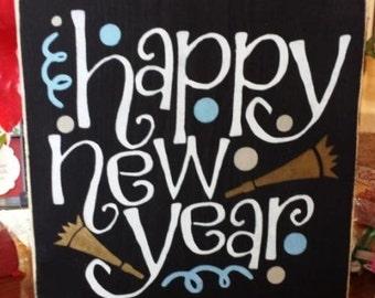 Primitive Sign Happy New Year Confetti