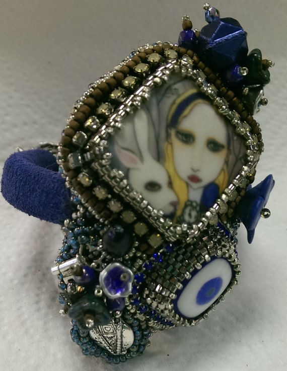 Alice and the White Rabbit Cuff