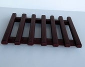 Maroon Handcrafted Pine Trivet , Hot Pad , Table Protector