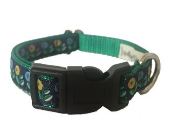 """1/2"""" Floral Buds Small Dog Collar"""