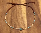 Native american single straind beaded choker (SALE)
