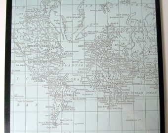 World Map ..Magnet Dry Erase Steel Memo Board /Housewarming Gift / Office Decor / Desk / Organization / Wall Hanging /Message Board / Travel