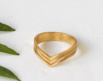On Sale Terai Ring, Chevron Ring, Statement Ring, Cast Ring, Gold Plated Ring, Silver Plated Ring