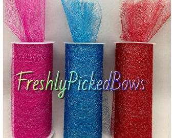 "Metallic Net Webbing tulle 6"" x 10 yards  5 colors to choose from"