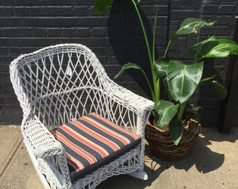 White Wicker Rocking Chair