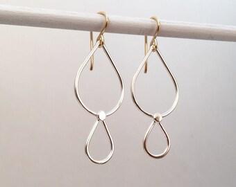Silver Droplet Earrings