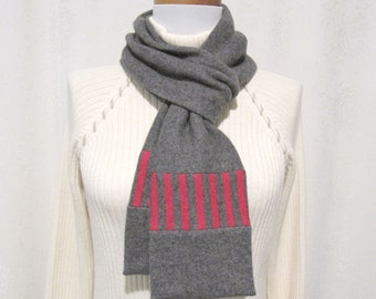 Gray Cashmere Scarf / Winter Scarf / Gray Scarf / Gray Neck Warmer Gray Womens Scarf No835