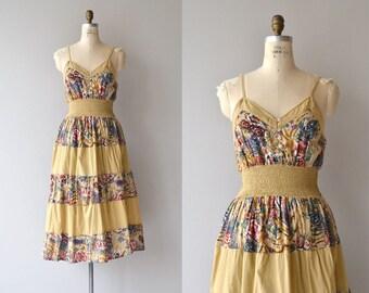 Andiah sundress | vintage indian cotton dress | 1970s floral dress