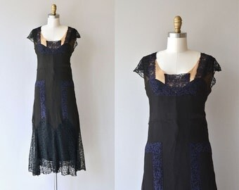 À la Prochaine dress | vintage 1920s silk dress | silk chiffon 20s dress