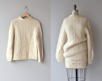 Adair wool sweater | vintage cream wool sweater | chunky wool 60s sweater