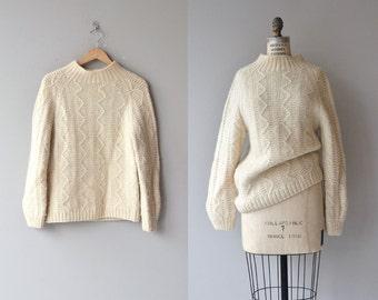 Adair wool sweater | vintage cream wool sweater | chunky wool 60s sweater