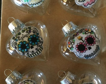Day of the Dead Glass Ornaments