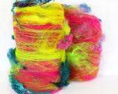 Bouncy Castle 2.4 oz  Wool - Merino- Art Batt // Wool Art Batt for spinning or needle felting