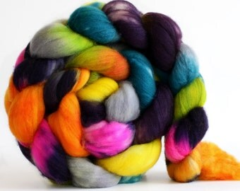 Static 4 oz Merino softest 19.5 micron Roving Top for spinning