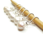 Stitch Markers for Lace - Pearl Melody - Stitch Markers - Small, Medium, Large, or XL