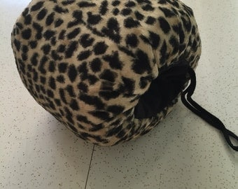 Miss Hollywood Visits Montreal - 1940's Faux Leopard Muff