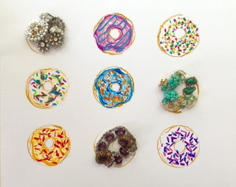 Donut You Know I Love You: Mixed Media Photo Print