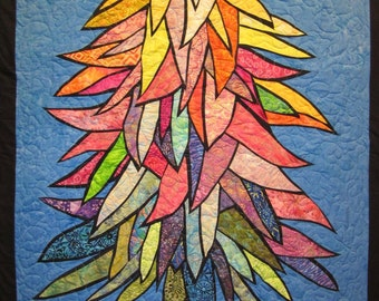 Colorful Tree Wall Hanging Art Quilt