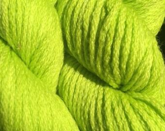 Koigu Kersti Merino Crepe 13 skeins in Chartreuse lime green