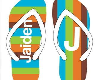 GROOVY personalized flip flops in adult and kid sizes