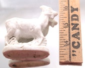 Mountain Goat Antique German Doll Parts Figurines Mixed Media Art Assemblage Art Projects