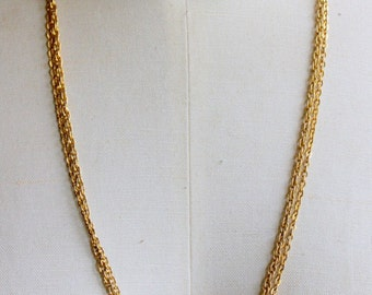 Long Layering Necklace Gold Ball Chain Double Layer WELL MADE