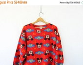 Vintage Mickey Mouse sweatshirt. Sweater Dress. Long fleece Tunic. Nightgown dress. Disney Sleepwear. Pajama top pjs