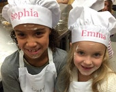 Childrens Personalized Chef Hat with Name - Girls Chef Hats, Boys Chef Hats, Kids Chef Hats, Toddlers, Custom Chef Hats for Birthday parties