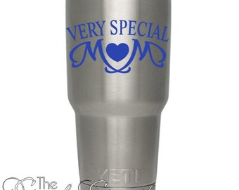 Very Special Mom- embelishment decal great for cars. windows, travel cups and more! wonderful mother's day gift idea
