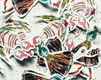 MAGIC NATURE Sticker Set - a MIX of Handcut Stickers - instant graffiti pack