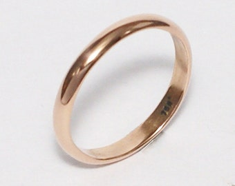 18kt 3mm Rose Gold Ring
