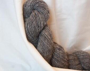 Handspun Shetland Yarn. Single ply. Natural Silver Grey. Fiber home grown by the flock.