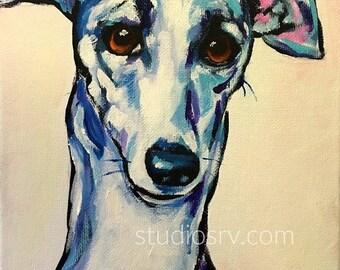 Italian Greyhound print 11x14
