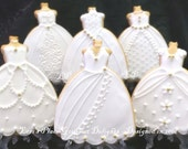 Reserved for Kaye---Wedding Dress Cookies - Wedding Gown Cookies - #2 -----6.00 each
