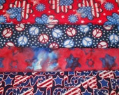 PATRIOTIC #3  Fabrics, Sold INDIVIDUALLY not as a group, by the Half Yard