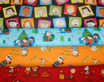 PEANUTS #3  Fabrics, Sold INDIVIDUALLY not as a group, by the Half Yard